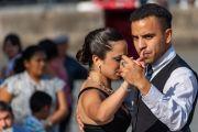 Tango vor einer Touristen Bar