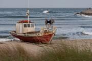 Fischerboote in Punta del Diablo