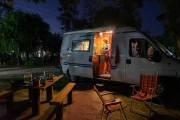 Über das Wochenende sind wir auf einem Campingplatz am Fluss.