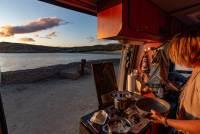 Blick aus der Küche über die Bucht von Puerto Pirámides