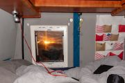 Sonnenuntergang am Schlafzimmerfenster