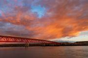 Sonnenuntergang am Rio Santa Cruz