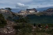 Bergblick auf Feuerland