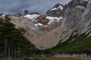 oberhalb der Laguna Esmeralda liegen einige Gletscher