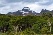 Blick zurück vom Ausgangspunkt in die Berge