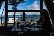 Blick aus dem kleinen Restaurant  La Sirena Y El Capitán