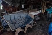 Bootswerkstatt auf der Estancia Haberton