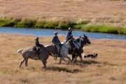 Gauchos auf ihren Pferden