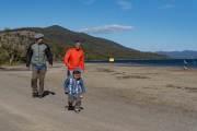 Auguste, Leandro und Juan P. am Lago Yehuin