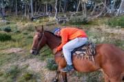 """Leandro mit """"seinem"""" Pferd"""
