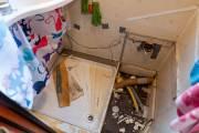 Das Bad während der Reparaturen