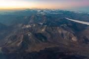 Nach dem Start in Santjago fliegen wir über die Anden nach Argentinien.