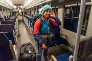 Auch die Bahn von München nach Darching ist so gut wie leer