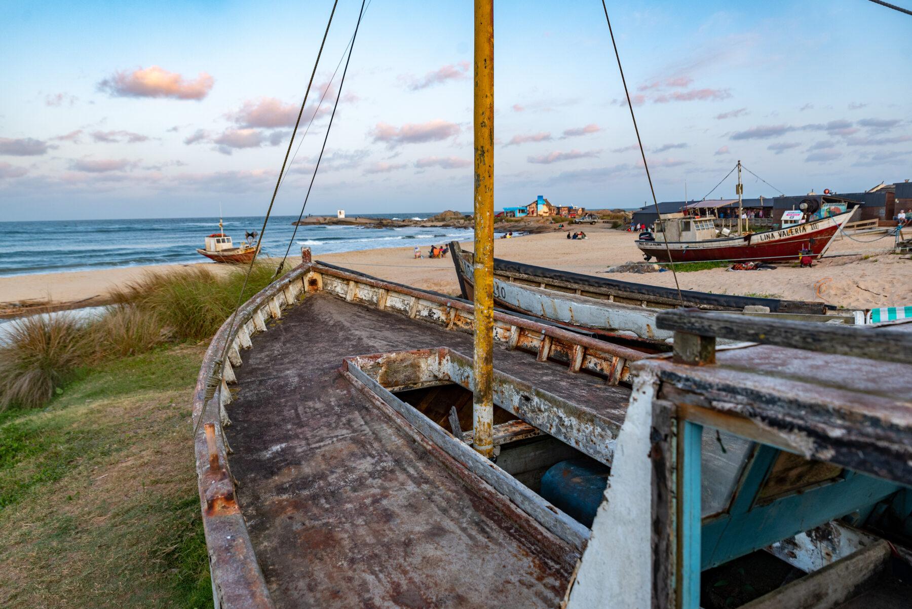 Fischerboote in Punta Diablo